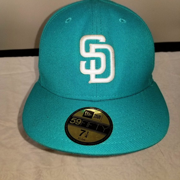 New Era Turquoise San Diego Padres Baseball Cap. NWT. New Era Fifty Nine  Fifty f7d3f144b9e